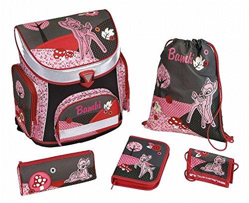 Scooli Schulranzen Set Campus Plus Disney Bambi 5 Teilig 18 Liters Mehrfarbig (Rosa)
