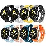 TiMOVO Cinturino Compatibile con Galaxy Watch Active/Active 2/Galaxy Watch 42mm/Gear S2 Classic/Gear Sport, [8-PCS] Cinturino in Silicone Morbido Leggero Sportivo Cinturino di Ricambio,Multi Colore A