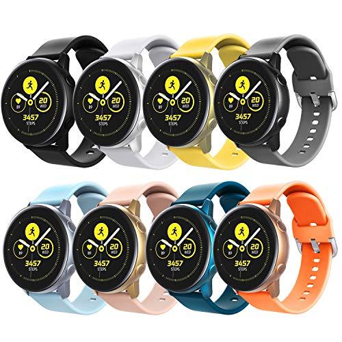 TiMOVO Cinturino Compatibile con Galaxy Watch Active/Active 2/Galaxy Watch 42mm/Gear S2 Classic, [8-Pack] Cinturino in Silicone...