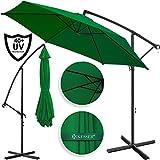 Kesser Alu Ampelschirm Ø 350 cm mit Kurbelvorrichtung UV-Schutz Aluminium Wasserabweisende Bespannung - Sonnenschirm Schirm Gartenschirm...