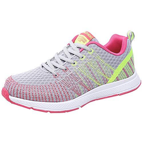 Zapatillas de Deporte Respirable para Correr Deportes Zapatos Running Cojines de Aire Calzado Mecedora...