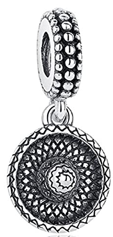 SaySure - 925 Sterling Silver Sombrero Charm Cute Beads