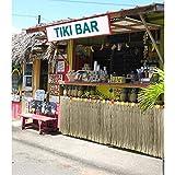 BELLE VOUS Hawaii Deko Tischrock 9ft - Luau Party Deko (L274 x H77cm) mit bunten Hibiskus Blumen - Luau Tischdeko, Tischrock aus Bast für Karibik Deko, hawaiianische Party, Geburtstag und Grillparty - 7