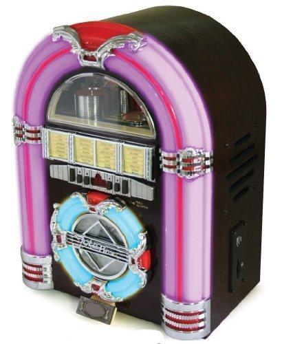 Mp3-player 512 Mb Flash-speicher (Steepletone Classic Rock Mini - USB-MP3-CD-LED-Mini-Jukebox (Kirsche Dunkel))