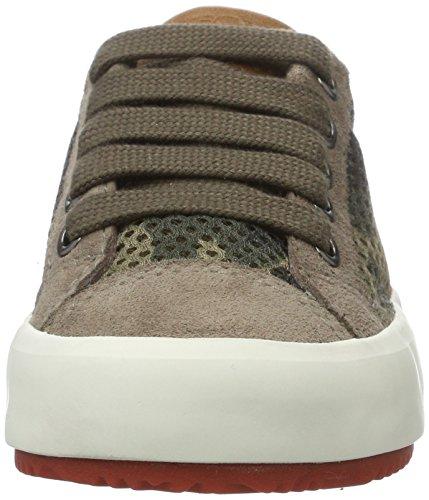 Geox J Alonisso A, Sneakers Basses Garçon Marron (Taupe/Orangec6048)