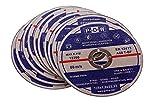 10 INOX Trennscheiben für Trenn-/ oder Winkelschleifer - Ø 125 mm Wellendurchmesser / INOX / Flexscheiben