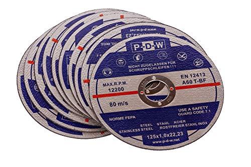 30 INOX Trennscheiben für Trenn-/oder Winkelschleifer - Ø 125 mm Wellendurchmesser/INOX/Flexscheiben