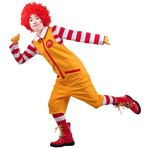 Mesky Ronald McDonald Kostüm für Herren und Damen -