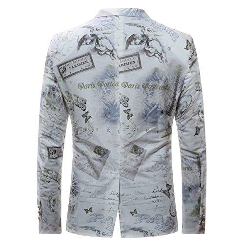 Cloudstyle Costume coloré Manteau Casual Men Slim Cotton Blazer coréenne Casual Jacket boutons One Fashion Style Picture color 9