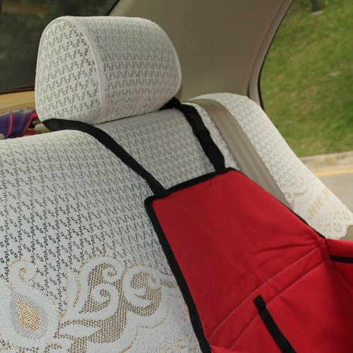 LAGUTE Auto Hundetransportbox Transportkorb Tiertragetasche Transporttasche Transportbox für Tier *Rot* -