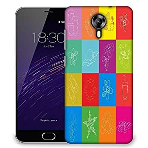 Snoogg abstract summer background Designer Protective Back Case Cover For Meizu M2