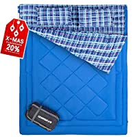 FUNDANGO Warm Sleeping Bag 3-4 Season Rectangular/Envelope,Compact,Lightweight,Waterproof-Great for Adults & Kids-Excellent Camping Gear Equipment,Camping Hiking Traveling and Outdoor Activities 14