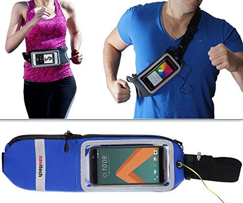 Preisvergleich Produktbild Navitech blau smartphone Lauf / Jogging Wasserdicht Sport Gürtel / Bund für die HTC U11 Life