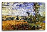 Leinwand (80x60cm): Claude Monet - Weg durch die Mohnfelder, ILE Saint-Martin