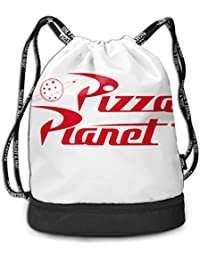 RAINNY Toy Story Pizza Planet Delivery Multifunctiona Drawstring Sport Backpack Foldable Sackpack