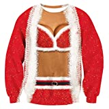 3D Druck Weihnachten Pullover Weihnachtsfrau