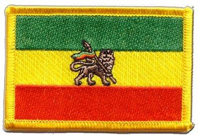 Flaggen Aufnäher Äthiopien alt Fahne Patch + gratis Aufkleber, Flaggenfritze® (äthiopien Patch)