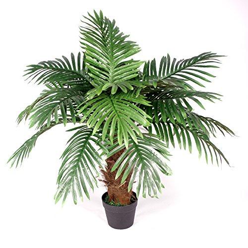 Künstliche Prinzessin Palme, 100cm Braun Trunk - Extra Large Topf in schwarzem Kunststoff-Topf - Brown Palm Leaf