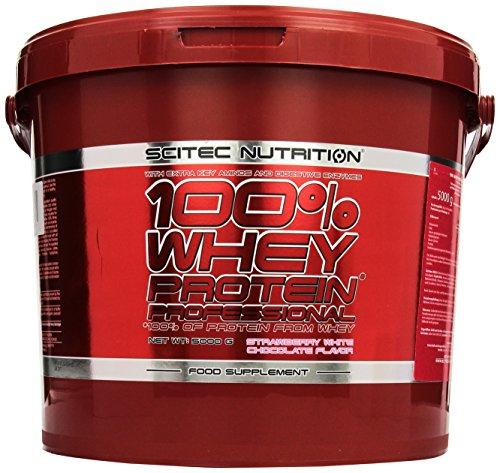 Scitec Nutrition Whey Protein Professional Erdbeer-Weiße Schkolade, 1er Pack (1 x 5000 g)