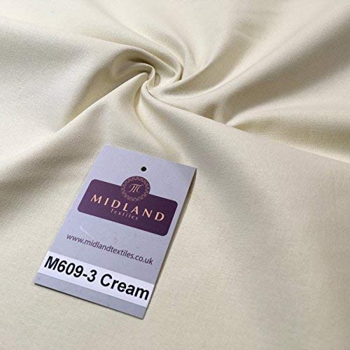 Uni 100% Cotton Handwerk Stoff für Patchwork und Quilten 44