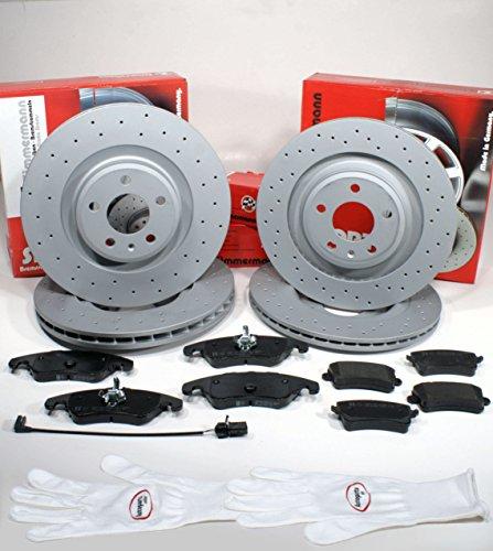 Preisvergleich Produktbild Autoparts-Online Set 60012129 Zimmermann Sport Bremsscheiben belüftet 1LJ,1KE gelocht Coat Z / Bremsen + Bremsbeläge für vorne + hinten