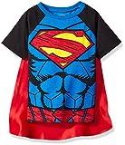 DC Comics Camiseta de Manga Corta de Supermán con Capa - Disfraz Friki Divertido...