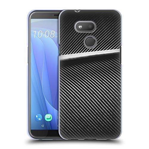 Head Case Designs Offizielle PLdesign Silbernes Tauben Federn Gewebe Abstrakte Photographie Soft Gel Huelle kompatibel mit HTC Desire 12s (2018) -