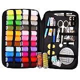 TOOGOO Kit de costura con 94 accesorios de costura, 24 bobinas de hilo -24 colores, kits de costura para principiantes, viajero, emergencia, toda la familia para remendar y reparar