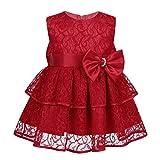 Tiaobug Baby Festlich Kleider Mädchen Prinzessin Spitzen Schleife Partykleid Festkleid Lagenlock Rock Taufe Hochzeits Outfits