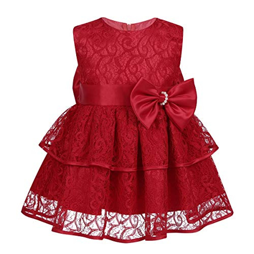 206b56c1a Freebily Vestido Encaje Elegante de Fiesta Bebé Vestido Bordado sin ...