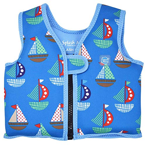 Splash About Go Swim, Gilet salvagente per bambini, Multicolore (Set Sail), 2-4 anni