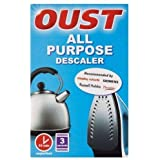 Oust All Purpose Deskaler (paket med 3) - Oust all purpose torkare X3 påse paket lämplig för kanna vattenkokare strykjärn kaf