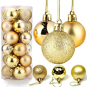 O-Kinee Bolas de Navidad Dorado,