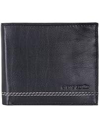 Cuir Noir Oyster carte de crédit Pocket Hip portefeuille de Pierre Cardin