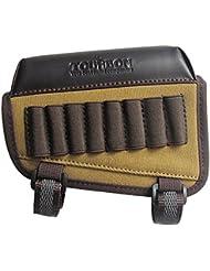 tourbon caza pistola buttstock mejilla resto almohadilla Rifle munición soporte - Canvas y Piel