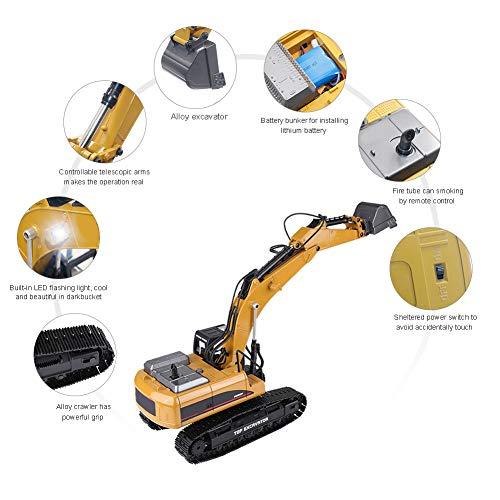 RC Auto kaufen Baufahrzeug Bild 2: Dilwe Fernbedienung Engineering Fahrzeug RC Bagger 2.4G 1:14 Skala 3 in 1 RC Elektro Modell Bagger Engineering Baufahrzeug Spielzeugauto*