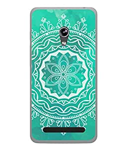 Asus Zenfone 5 A501CG Back Cover Multicolour Rangoli Design From FUSON