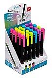 Läufer 12424 Radierstift, nachfüllbar, 24 Stück bunt sortiert, grün, blau, gelb, pink, lila im Display