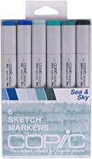 Copic Markers 6-Piece Sketch Set, Sea and Sky