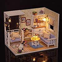 DIY Miniature Dollhouse Kit Realistic Mini 3D Wooden House Room Handmade Toy with Furniture LED Lights Birthday Gift