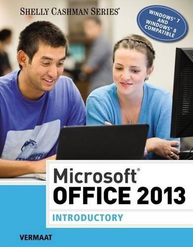 Microsoft Office 2013: Introductory (Shelly Cashman Series) by Misty E. Vermaat (2013-06-13) par Misty E. Vermaat