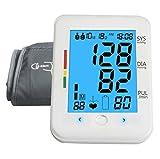 Misuratore di Pressione da Braccio Ricaricabile Sfigmomanometro Totalmente Automatica Ampio LCD Display