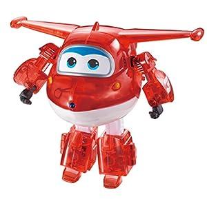 Super Wings- Auldeytoys EU710210A Spielzeugfigur Transformer Medium, Rot X-Ray Transforming Jett Pre-School Preschool Action Figure, Red, 13cm, Color