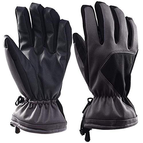 Selighting Damen Herren Wasserdicht Skihandschuhe Warme Sport Handschuhe Winter für Skifahren Motorradfahren Radfahren Outdoor (M, Grau)