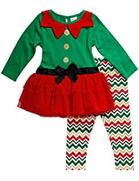 Youngland Baby Girls' Elf Tutu Dress and Legging