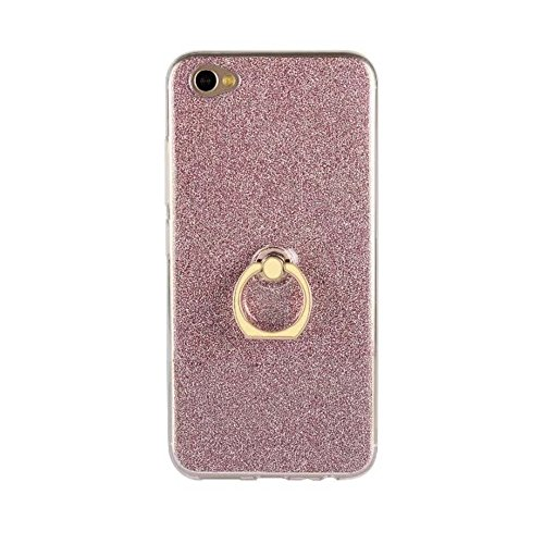 Soft Flexible TPU Back Cover Case Shockproof Schutzhülle mit Bling Glitter Sparkles und Kickstand für VIVO X9s Plus ( Color : Black ) Pink