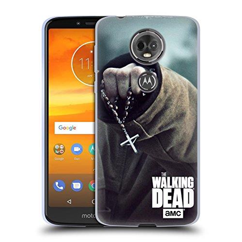 Head Case Designs Offizielle AMC The Walking Dead Rosenkranz Schlüssel Kunst Soft Gel Hülle für Motorola Moto E5 - In Rosenkranz Kunst Der Der