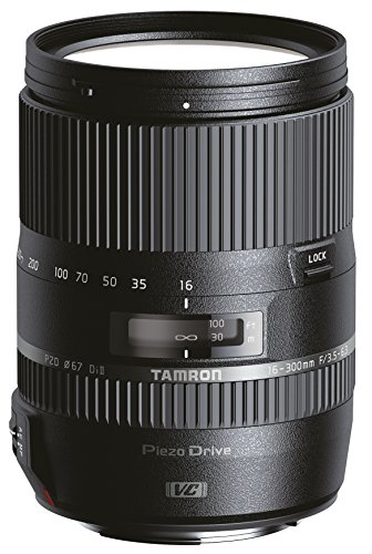 Tamron B016N AF 16 300mm F/3.5 6.3 Di II VC PZD Telephoto Lens for Nikon DSLR Camera  Black