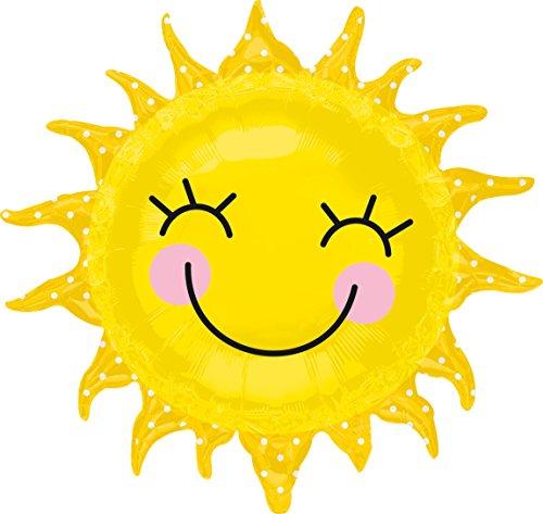 amscan 2451901 Folienballon lachende Sonne