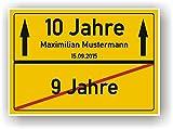 Ortsschild - Bild - 9. Geburtstag - 10. Geburtstag - persönliches Geschenk Kindergeburtstag - Geschenkidee 10. Geburtstag